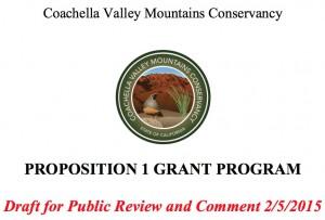 Proposition 1 Grant Program.